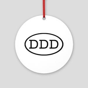 DDD Oval Ornament (Round)