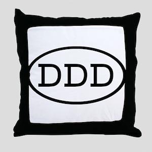 DDD Oval Throw Pillow