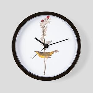 Audubon Selby's Fly Catcher Wall Clock