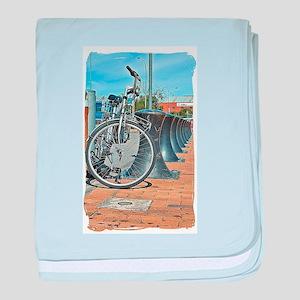 Bikes & Bollards baby blanket