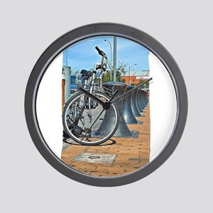 Bikes & Bollards Wall Clock