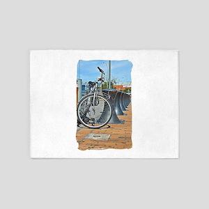 Bikes & Bollards 5'x7'Area Rug