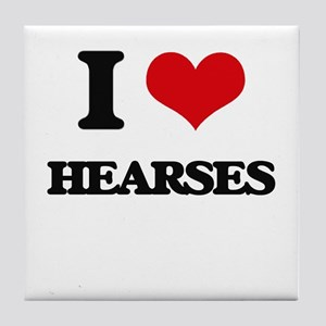 I Love Hearses Tile Coaster