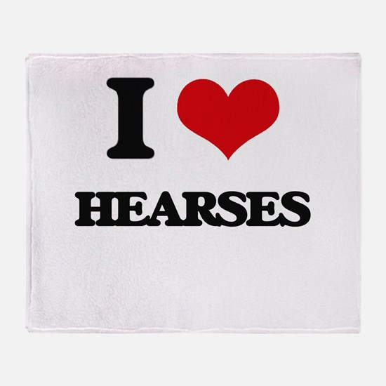 I Love Hearses Throw Blanket