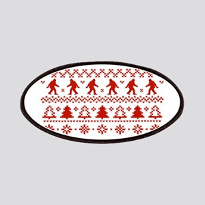 Gone Squatchin Sasquatch Ugly Xmas Sweater Patches