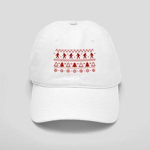 gone squatchin sasquatch ugly xmas sweater basebal - Ugly Christmas Hats