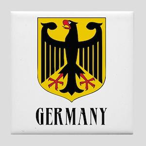 German Coat of Arms Tile Coaster