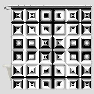 Op Art Squares Shower Curtain