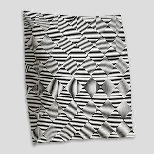 Op Art Squares Burlap Throw Pillow