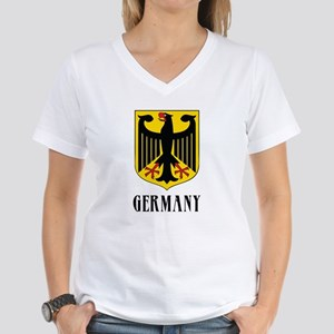 German Coat of Arms Women's V-Neck T-Shirt