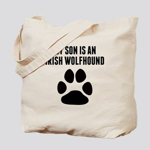 My Son Is An Irish Wolfhound Tote Bag