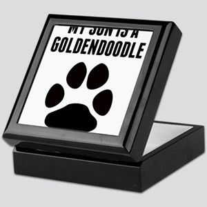 My Son Is A Goldendoodle Keepsake Box
