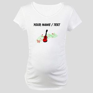 Custom Acoustic Guitar Maternity T-Shirt