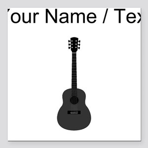 "Custom Acoustic Guitar Square Car Magnet 3"" x 3"""