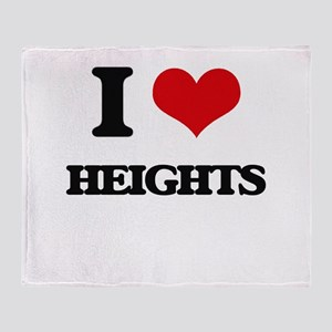 I Love Heights Throw Blanket