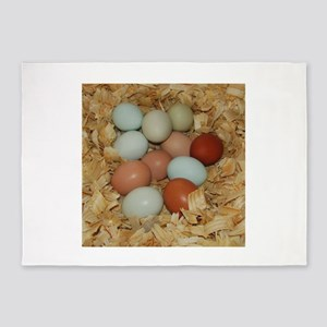 Eggs in a Nest 5'x7'Area Rug