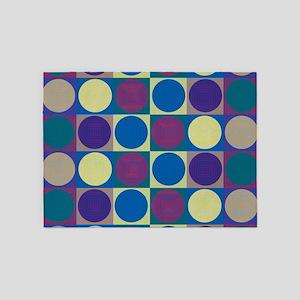 Op Art Pop Art 5'x7'Area Rug