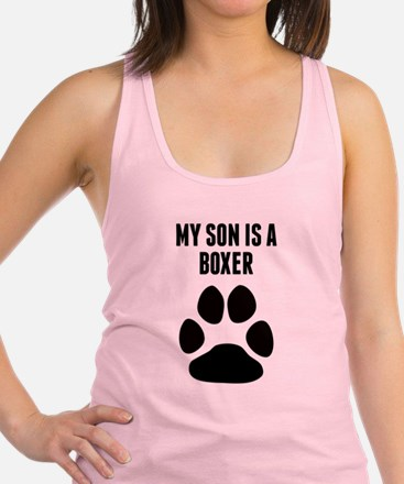 My Son Is A Boxer Racerback Tank Top