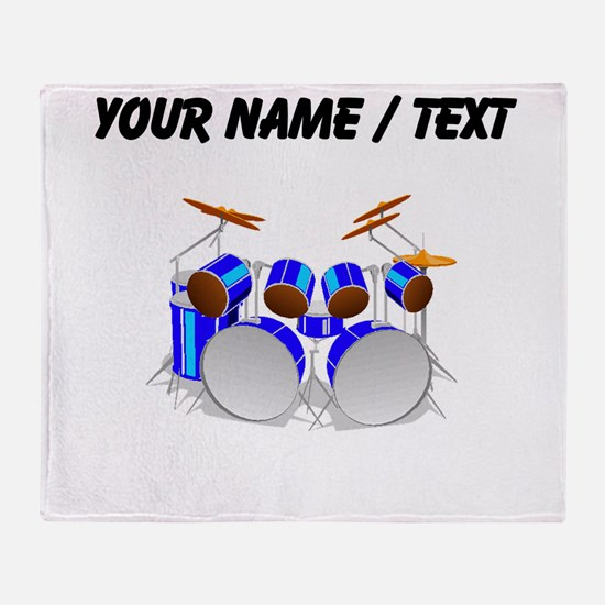 Custom Drum Set Throw Blanket