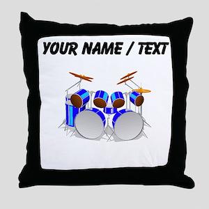 Custom Drum Set Throw Pillow