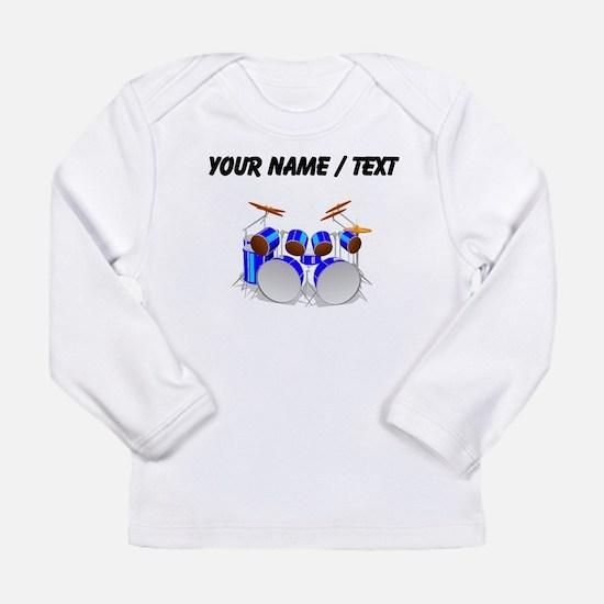 Custom Drum Set Long Sleeve T-Shirt