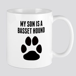 My Son Is A Basset Hound Mugs