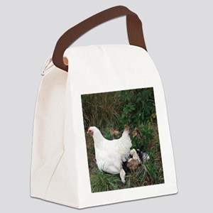 Patience and Baby Chicks Canvas Lunch Bag