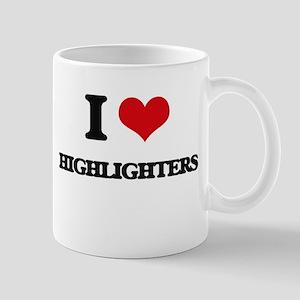 I Love Highlighters Mugs