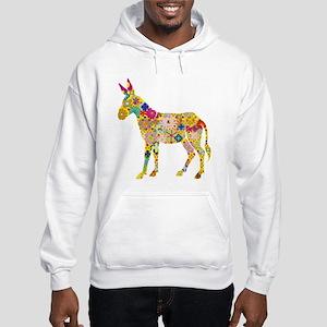 Flower Donkey Hoodie Hooded Sweatshirt