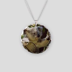 Sweet Baby Koala Necklace Circle Charm