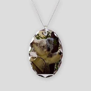 Sweet Baby Koala Necklace Oval Charm