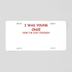 immature Aluminum License Plate