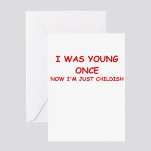 immature Greeting Cards