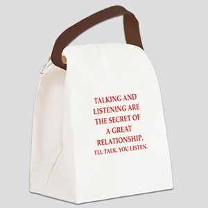 relationship Canvas Lunch Bag