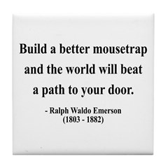 Ralph Waldo Emerson 8 Tile Coaster