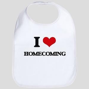 I Love Homecoming Bib