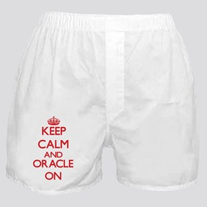 Keep Calm and Oracle ON Boxer Shorts