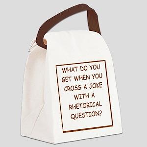 rhetorical question Canvas Lunch Bag