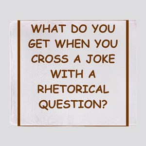 rhetorical question Throw Blanket