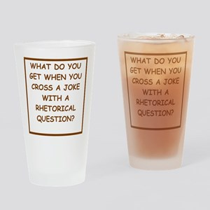 rhetorical question Drinking Glass