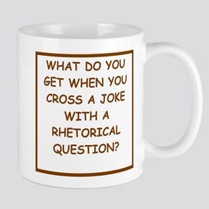 rhetorical question Mugs