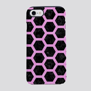 HEXAGON2 BLACK MARBLE & PINK C iPhone 7 Tough Case