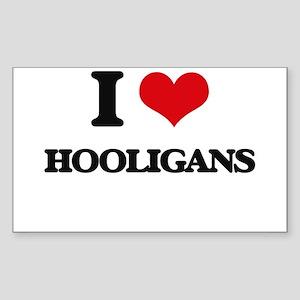 I Love Hooligans Sticker