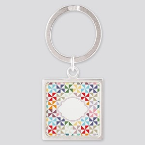 Colorful Pinwheels White Dotted Keychains