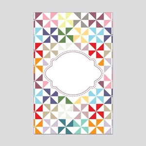 Colorful Pinwheels White Dotted Posters