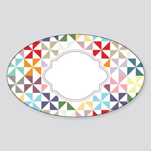 Colorful Pinwheels White Dotted Sticker