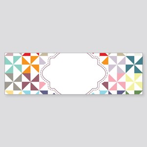 Colorful Pinwheels White Dotted Bumper Sticker