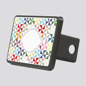 Colorful Pinwheels White Dotted Hitch Cover