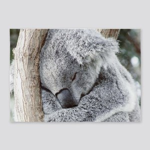 Sleeping Koala baby 5'x7'Area Rug