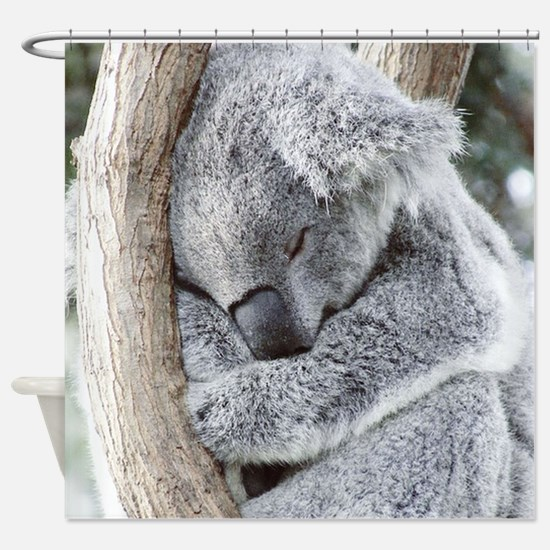 Sleeping Koala baby Shower Curtain